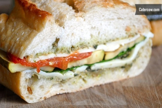 Grilled Vegetable Pesto Sandwich From Bistro Truck Rustic