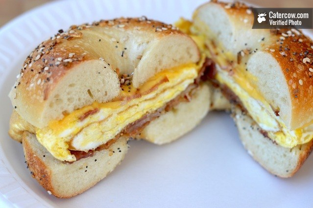 Classic Breakfast Bagel Sandwich from Atlantic Catering on CaterCow