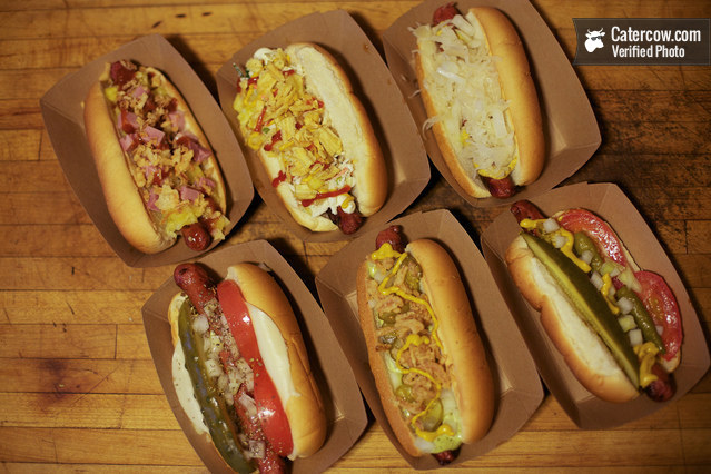 Gourmet hot dog party from snap on catercow