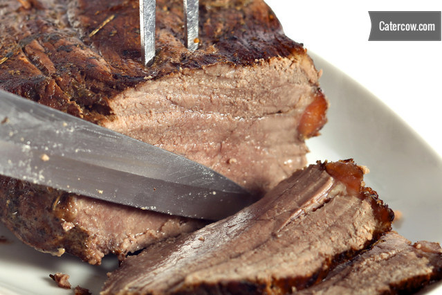 Roast beef carving station from success catering inc on